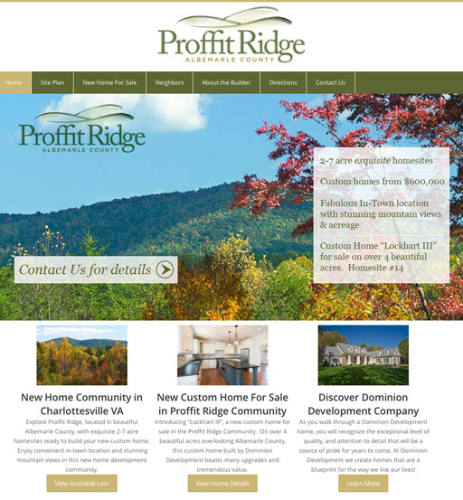 Proffit Ridge Homepage